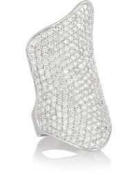 Lynn Ban - Armour Sterling Silver Diamond Ring - Lyst