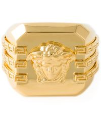 Versace Medusa Square Ring - Lyst