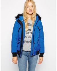 Bellfield - Short Jacket With Faux Fur - Lyst