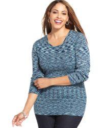 Jones New York Signature Plus Size Spacedyed Sweater - Lyst