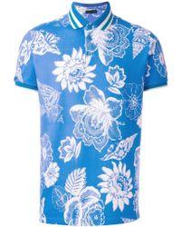 Etro   Floral Print Polo Shirt   Lyst