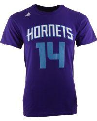 Adidas Mens Short Sleeve Michael Kiddgilchrist Charlotte Hornets Player Tshirt - Lyst