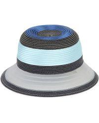Armani - Striped Straw Hat - Lyst