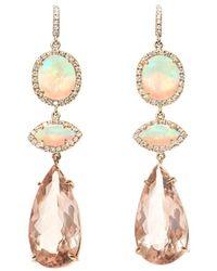 Diamond, morganite & pink-gold earrings NSR Nina Runsdorf