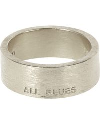 All Blues Silver Band Ring - Lyst