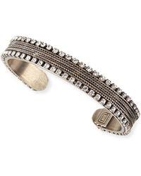Dannijo Lane Chain & Crystal Cuff Bracelet - Lyst