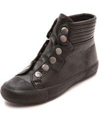 Ash Vespa High Top Sneakers  Blackantic Gunblack - Lyst