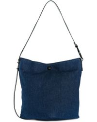 MM6 by Maison Martin Margiela Button Closure Shoulder Bag - Lyst
