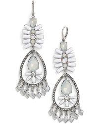 Kent & King - Crystal Chandelier Earrings - Lyst