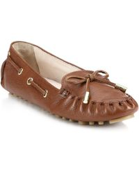 Cole Haan Cary Leather Drivers brown - Lyst