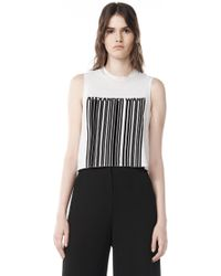 Alexander Wang | Welded Barcode Cropped Tank | Lyst