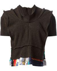 Comme Des Garçons Panelled Hem Sweater - Lyst