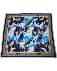 Matthew Williamson Abstract Feather Cotton Silk Sarong - Lyst