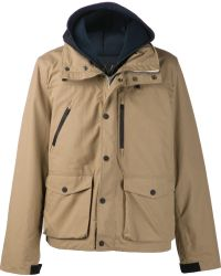 Golden Goose Deluxe Brand Beige Hooded Coat - Lyst