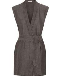 Etoile Isabel Marant Jill Linen And Cotton-Blend Wrap Mini Dress - Lyst