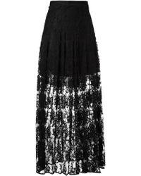 Chloé   Floral Lace Maxi Skirt   Lyst