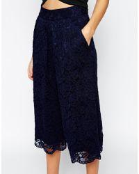 TFNC London - Lace Culottes - Lyst