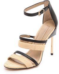 BCBGMAXAZRIA - Deanna Strappy Sandals - Parfait/Black - Lyst