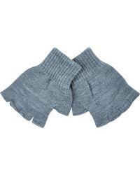 River Island Grey Fingerless Gloves - Lyst