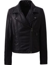 Uniqlo Synthetic Leather Bikers Jacket - Lyst
