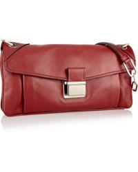 Miu Miu Push Lock Leather Shoulder Bag - Lyst