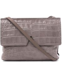 Vince - Grey Baby Croc-embossed Leather Bag - Lyst