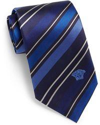Versace Striped Silk Tie - Lyst