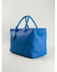 Bottega Veneta Blue Nappa Tote - Lyst