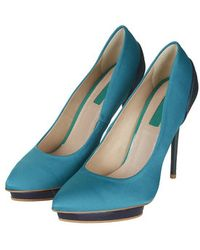 Topshop Soda Satin Court Shoes - Lyst