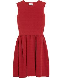 RED Valentino Scalloped Stretch-Knit Cotton Dress - Lyst