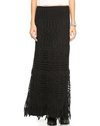 Twelfth Street by Cynthia Vincent Lace Maxi Skirt Dress Black - Lyst