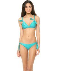 Rachel Pally - Mauritius Bikini Top Lagoon - Lyst