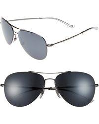 Gucci 59Mm Aviator Sunglasses - Dark Ruthenium - Lyst