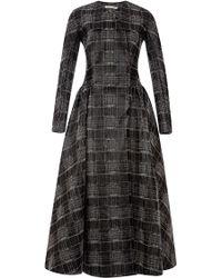 Emilia Wickstead Gray Lolita Dress - Lyst