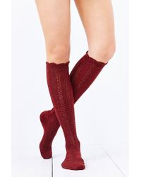 Urban Outfitters - Braided Soft Knee High Sock - Lyst