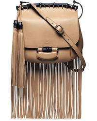 Gucci Nouveau Leather Fringe Shoulder Bag - Lyst