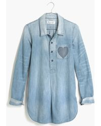 Madewell Chambray Little Love Popover Shirt - Lyst