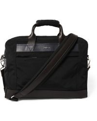 Paul Smith Leather-trimmed Canvas Briefcase - Lyst