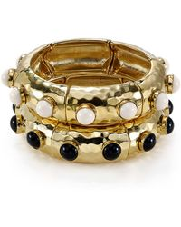 R.j. Graziano - Hammered Bangle - Lyst