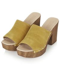 Topshop Lucy Stud Mule Clogs yellow - Lyst