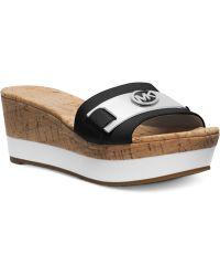 Michael Kors Michael Warren Platform Wedge Sandals - Lyst