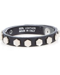Iro Leather One Row Stud Bracelet - Lyst