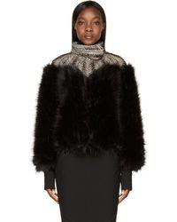 Iris Van Herpen Black Fur Biopiracy Coat - Lyst