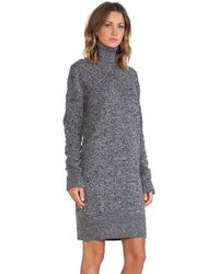 McQ by Alexander McQueen Oversized Lambs Wool High Neck Dress - Lyst