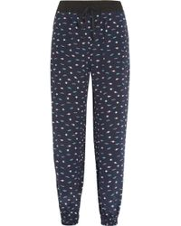 Lulu & Co Planet Print Silk Pants - Lyst