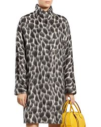 Gucci Animalier Mohairblend Coat - Lyst