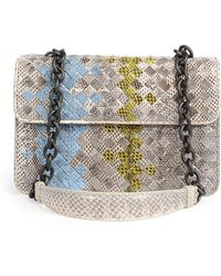Bottega Veneta Small Woven Snake Shoulder Bag - Lyst
