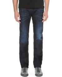 Diesel Darron Regular-fit Tapered Jeans Blue - Lyst