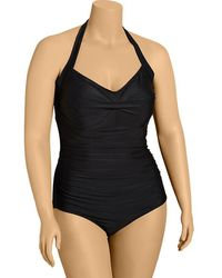 Old Navy Plus Ruched Control Max Swimsuits - Lyst