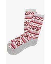 Express Aztec Pattern Crew Socks - Lyst